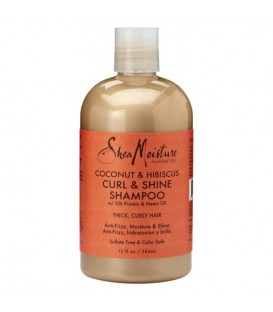 SHEA MOISTURE - COCONUT AND HIBISCUS- CURL AND SHINE SHAMPOO