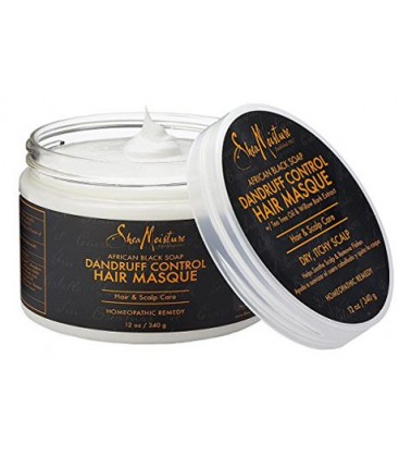 SHEA MOISTURE - AFRICAN BLACK SOAP - MASQUE ANTI-PELLICULE